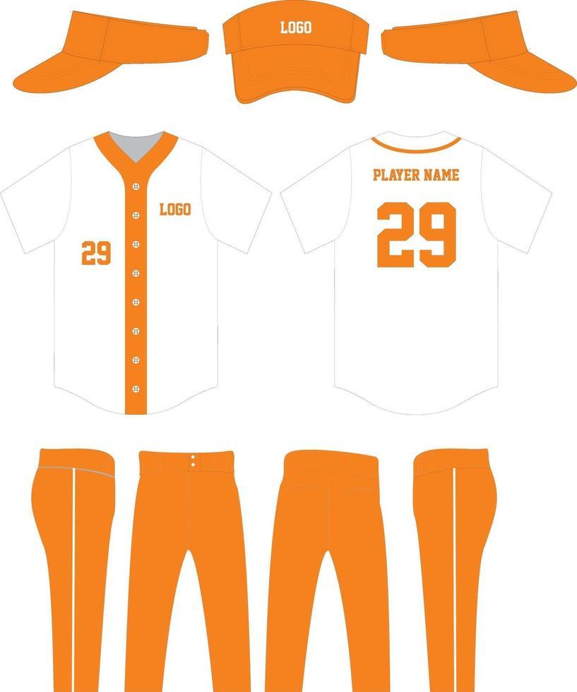 Baseballuniform mit Kappen Design vektor