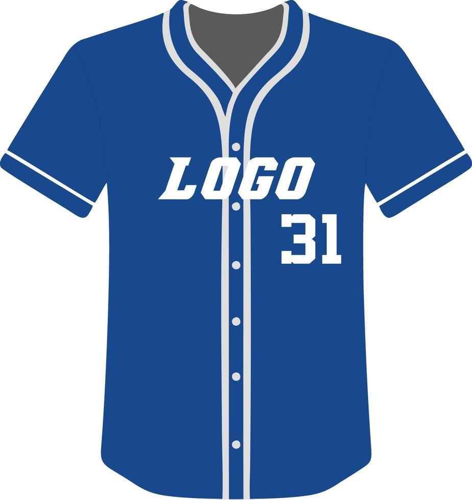 Baseball Trikot sublimiert Sportuniformen Design vektor