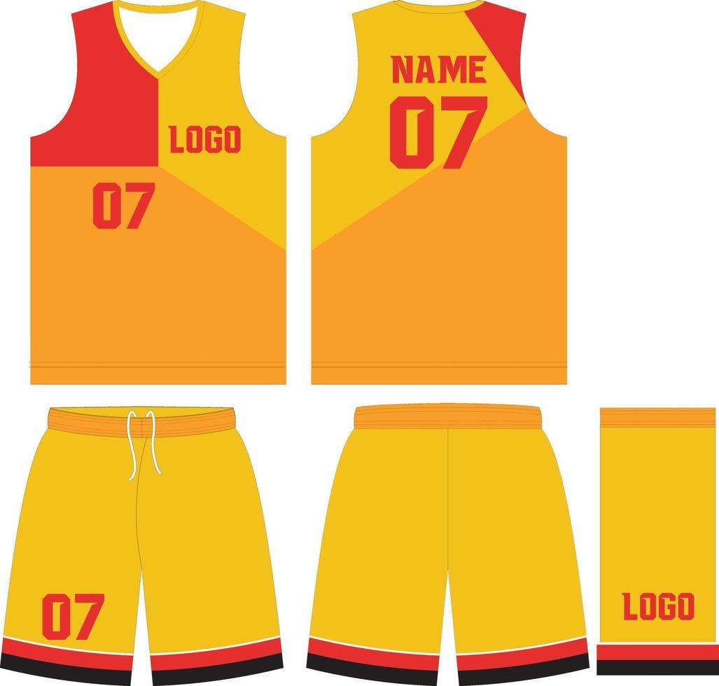 anpassad design basket uniformer sport jerseyshorts vektor