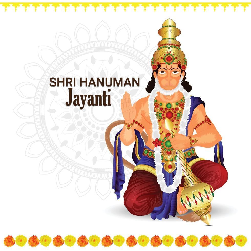 Lord Hanuman illustration och bakgrund vektor