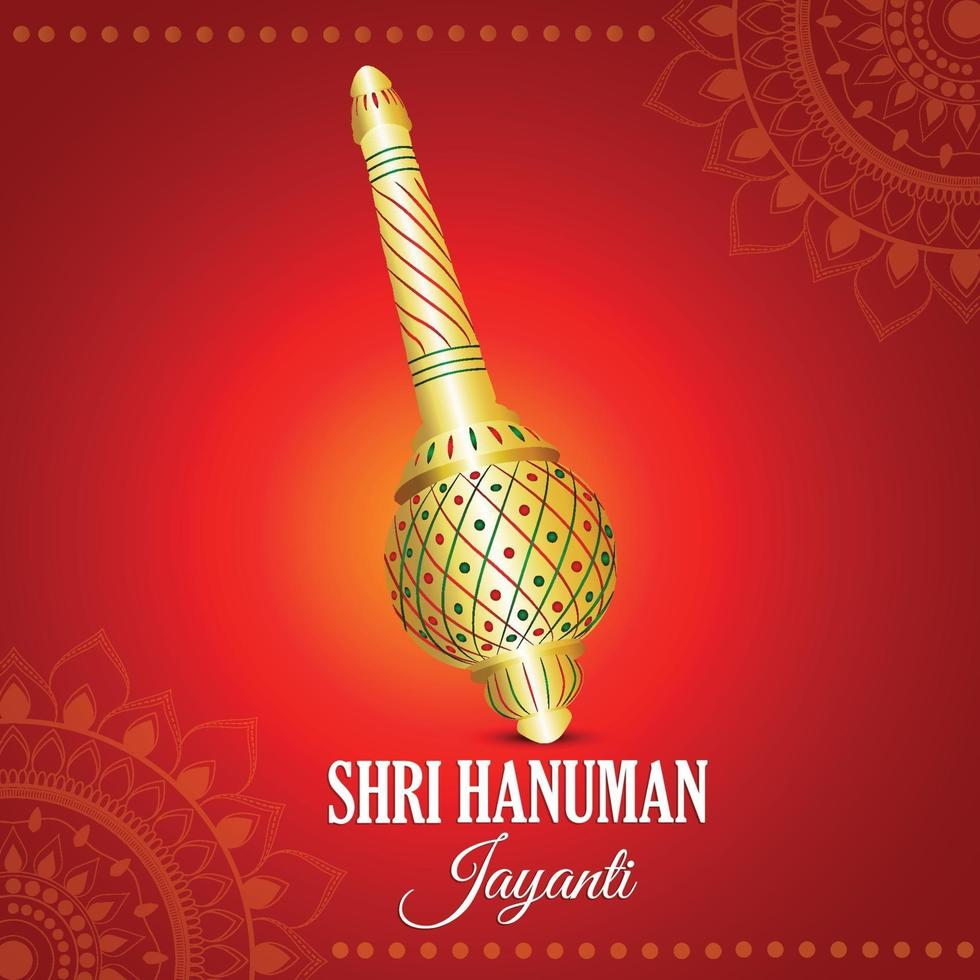 kreativer Hintergrund mit Lord Hanuman Waffe vektor
