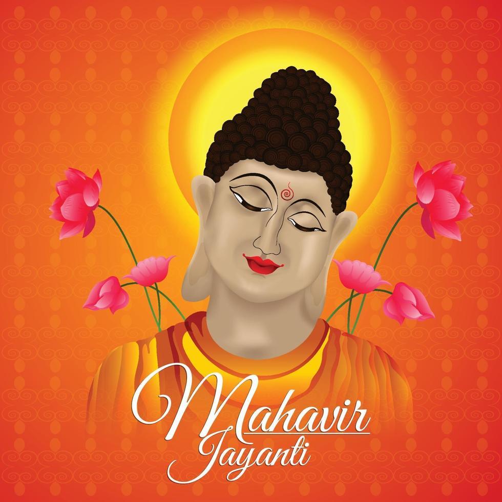 vektor illustration av goutam buddha och bakgrund