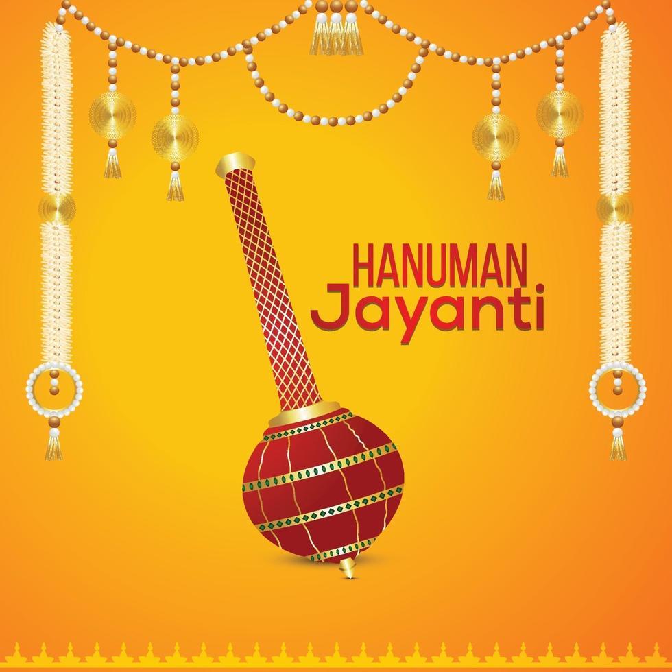 Lord Hanuman vapen och kreativ bakgrund vektor
