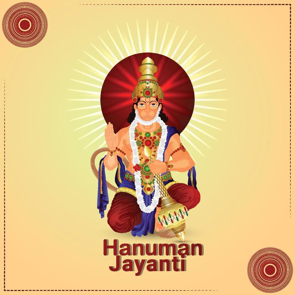 kreativ illustartion av hanuman jayanti vektor