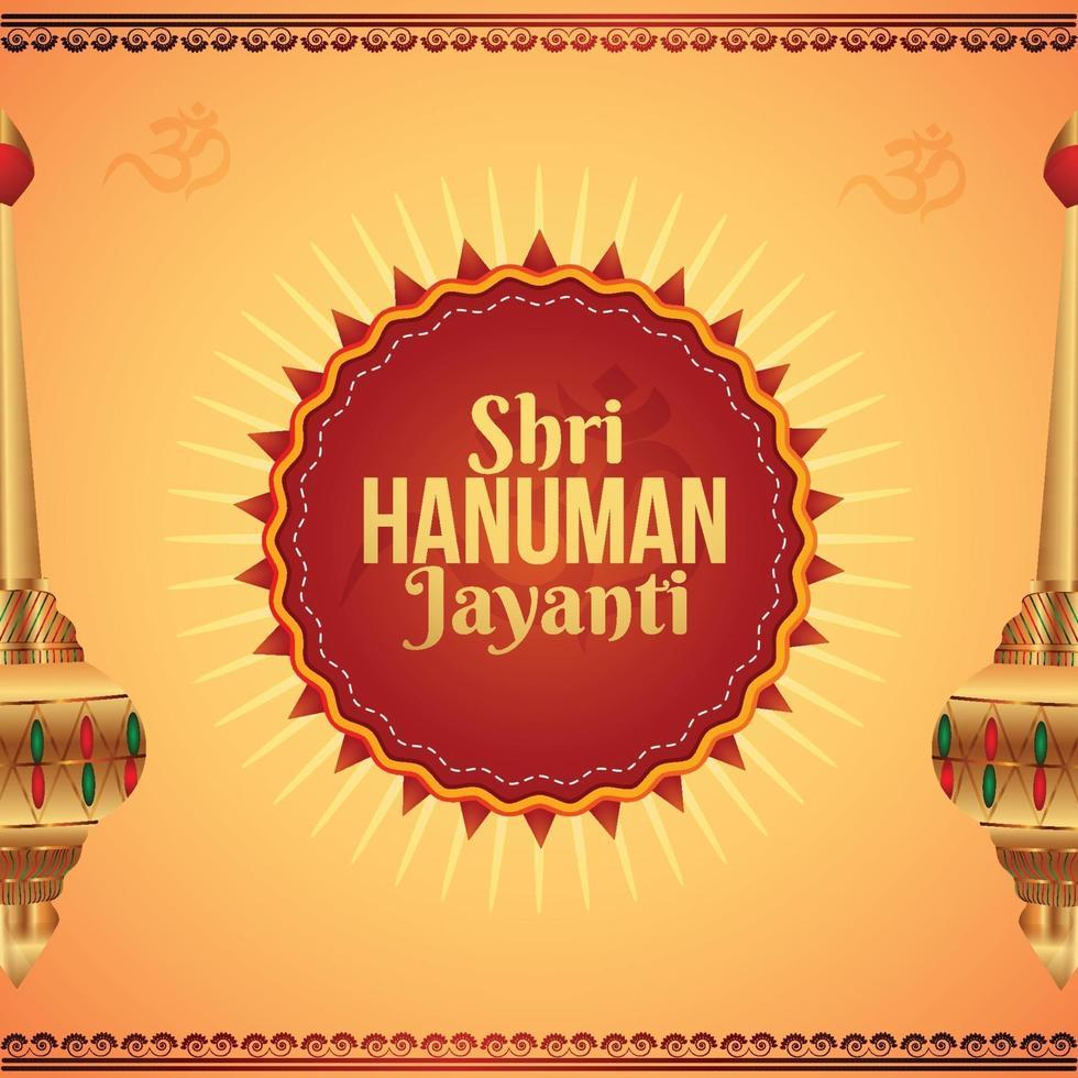 shri hanuman jayani bakgrundsdesign vektor