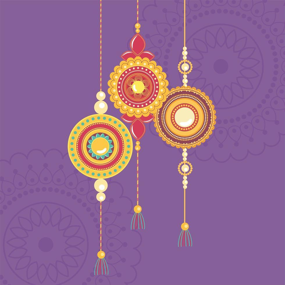 Raksha Bandhan, traditionelle indische Feier mit Armbändern vektor