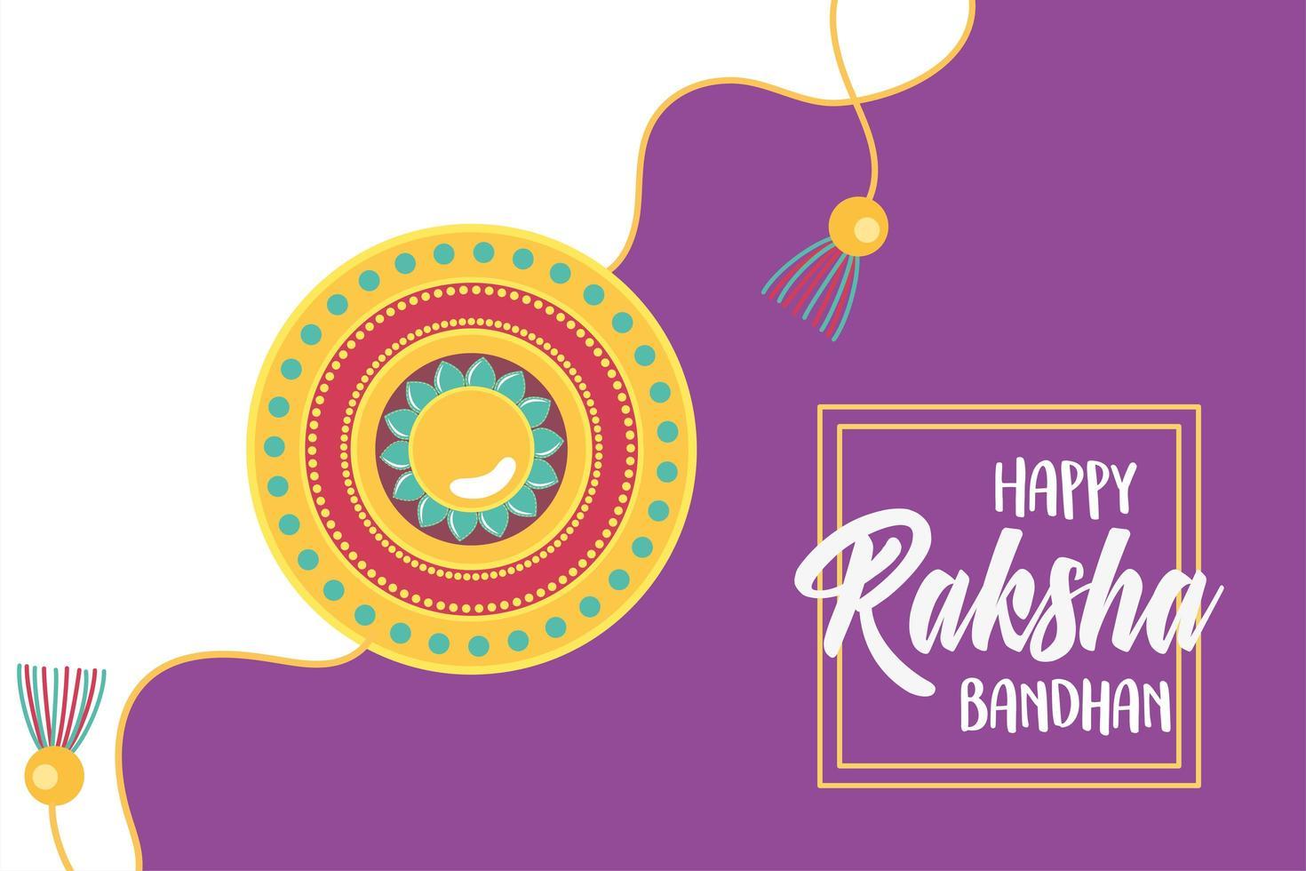 Raksha Bandhan, traditionelle indische Feier mit Armband vektor