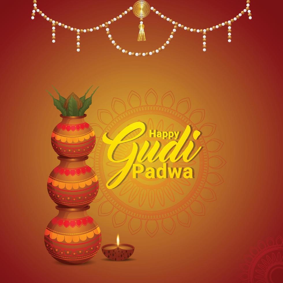 gratulationskort för gudi padwa vektor