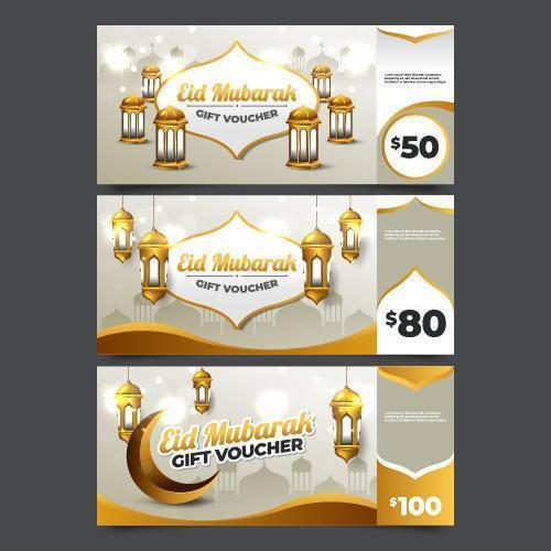 eid mubarak presentkort vektor