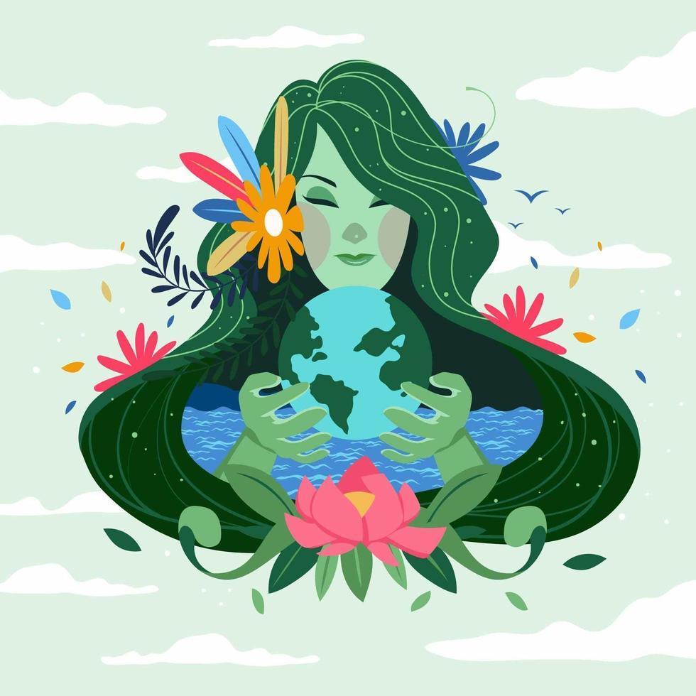 Mutter der Natur Konzept vektor