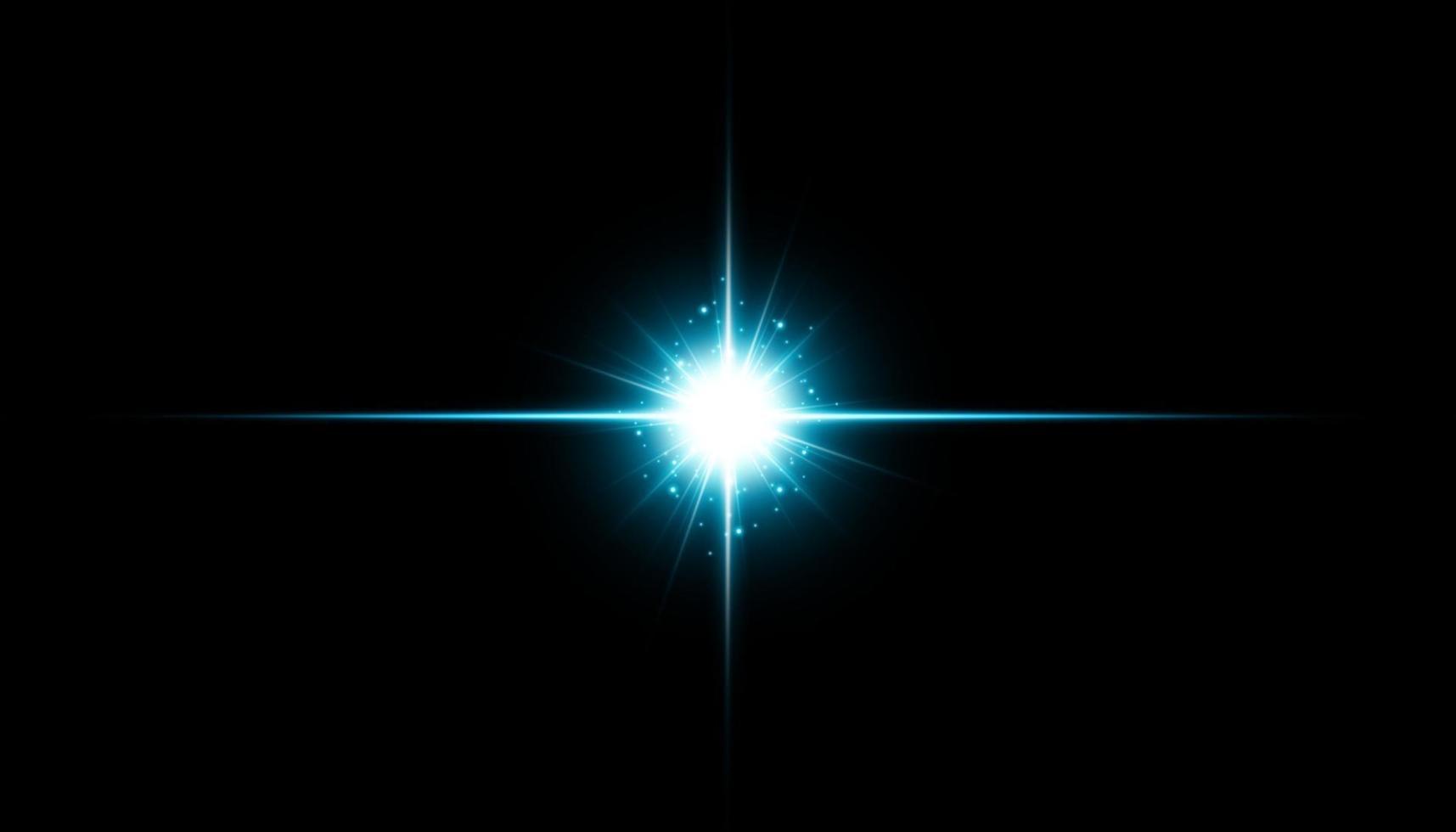 glödisolerad blå transparent effekt, linsflare, explosion, glitter, linje, solblixt, gnista och stjärnor. för illustration mall konst design, banner för jul fira, magiska blixt energi ray. vektor