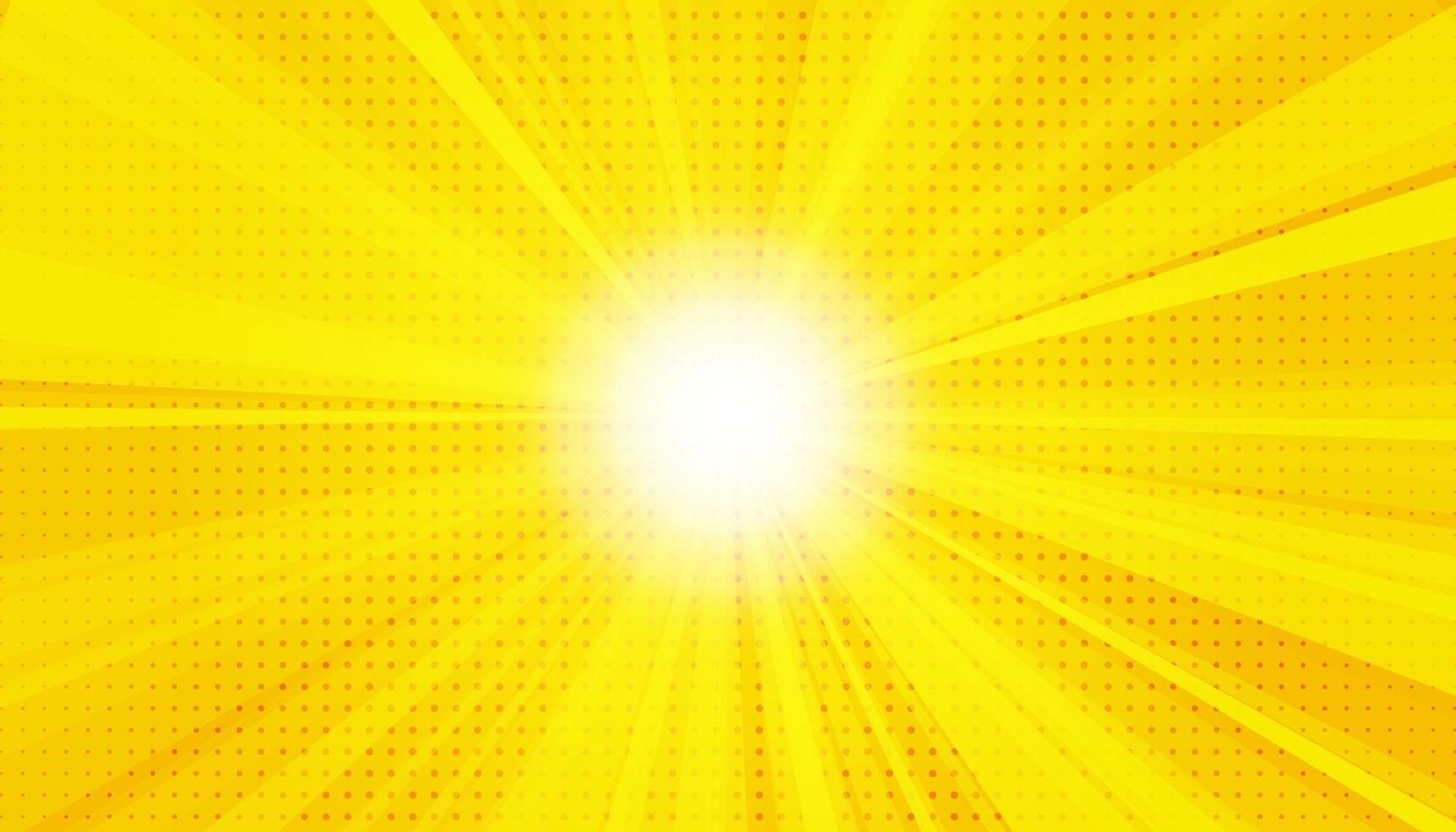 gul sanny strålar bakgrund. gnistrande magiska dammpartiklar. vektor illustration.