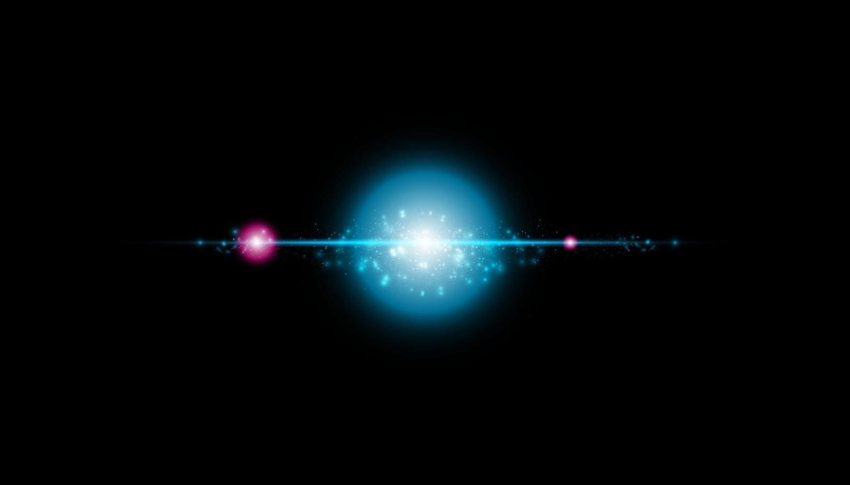 glödisolerad blå transparent effekt, linsflare, explosion, glitter, vektor