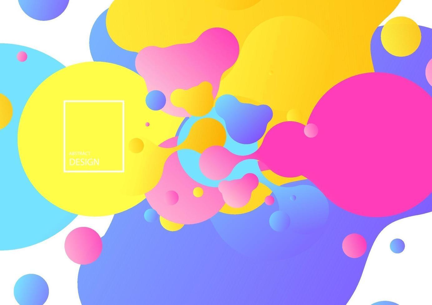 abstrakta geometriska former. flytande gradient banderoller isolerad på vitt. flytande vektor bakgrund. gradient geometriska banners med flytande flytande former. dynamisk vätskedesign för logotyp, flygblad eller present. abstrakt vektor bakgrund