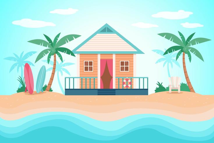 beach resort vektor