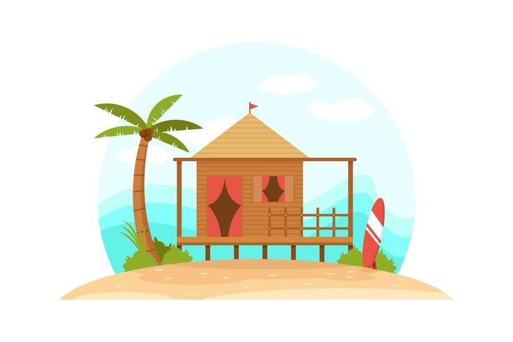 Strand-Erholungsort-Vektor vektor