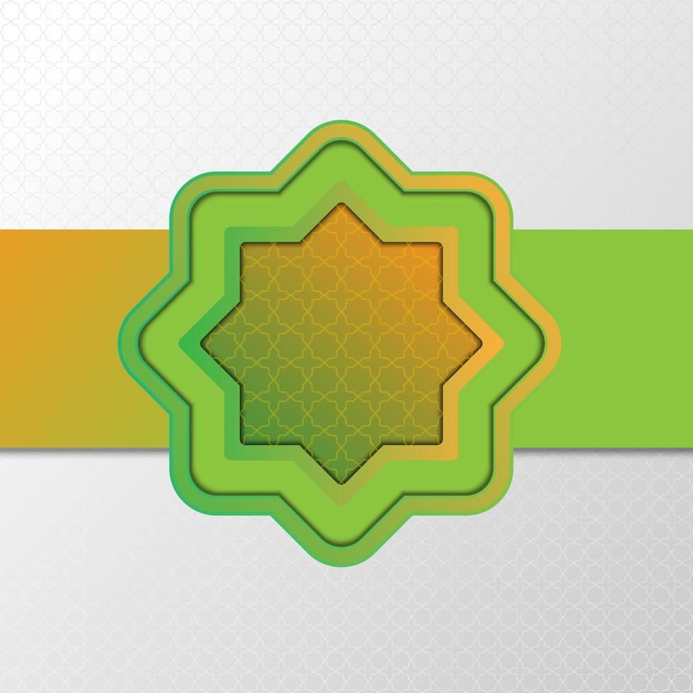 islamisk grön prydnad bakgrundsdesign vektor