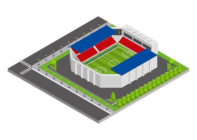 fotbollsstadion isometrisk vektor