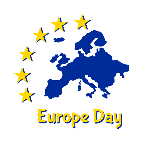 Europa-Tag Feier Hintergrund vektor
