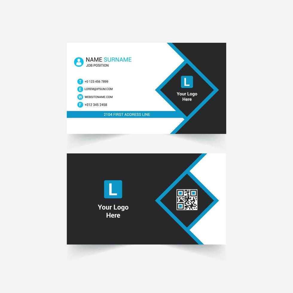 modernes Visitenkarten-Design des Unternehmens vektor