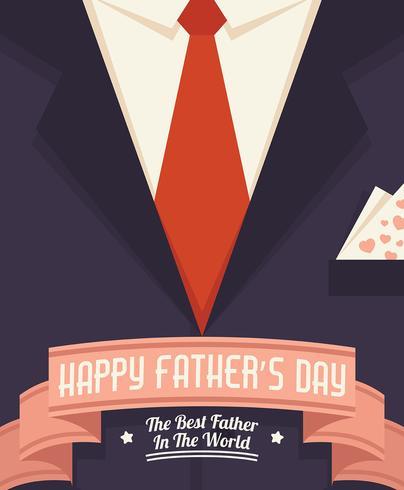 Lycklig fars dag illustration vektor