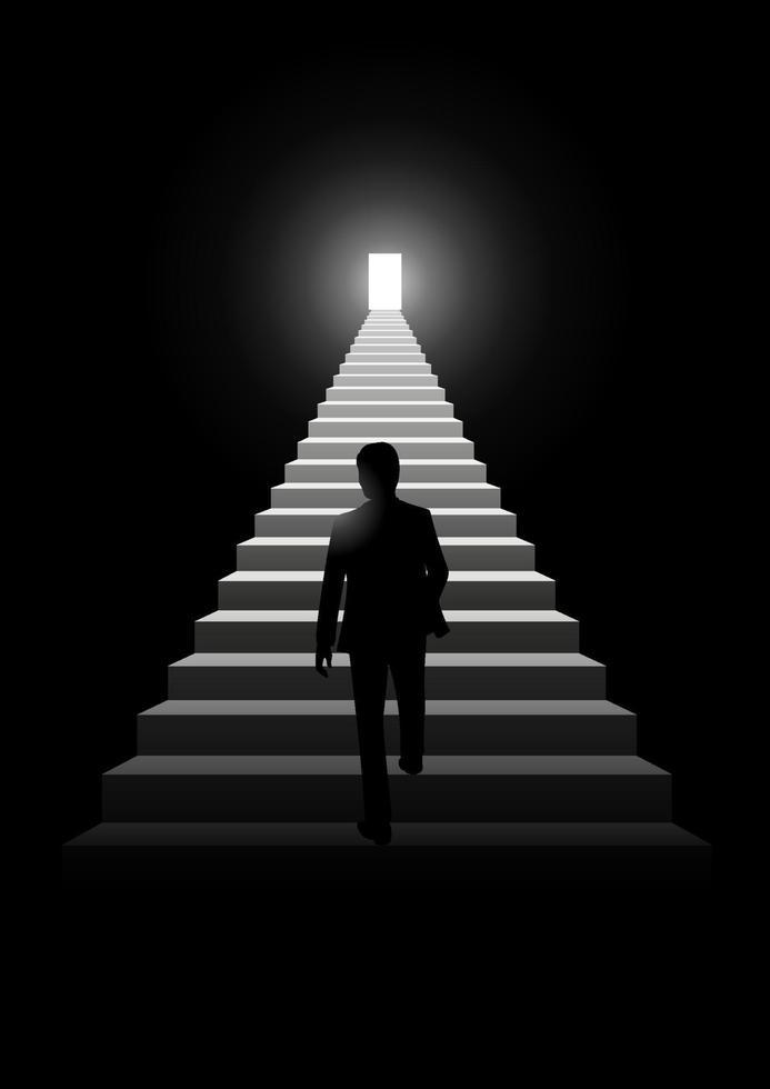 trappa till framgång vektor