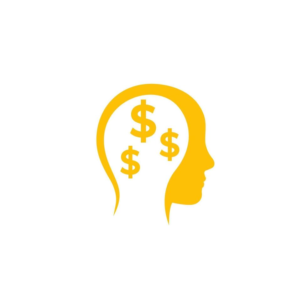 affärsidéer, pengar tänkande vektor icon.eps