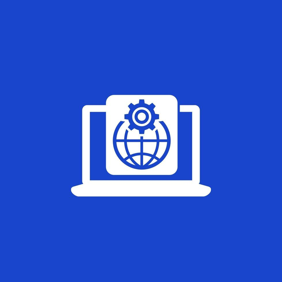ikon för globala inställningar för web.eps vektor