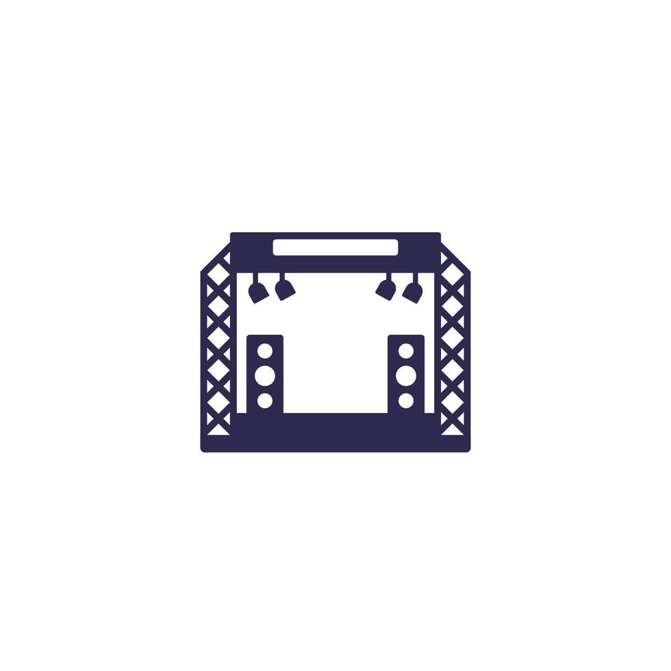 Konzertbühnenikone auf white.eps vektor