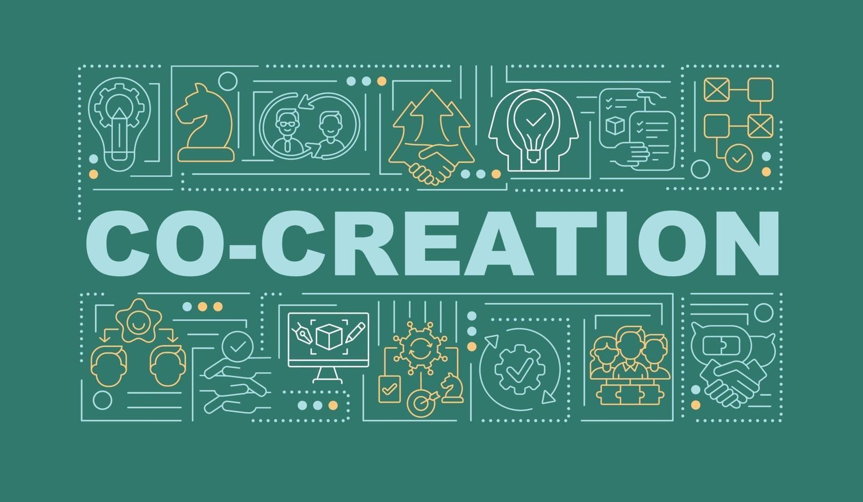 Nehmen Sie Außenstehende in das Banner der Ideenwortkonzepte auf vektor