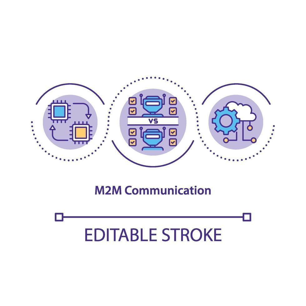 m2m kommunikation koncept ikon vektor