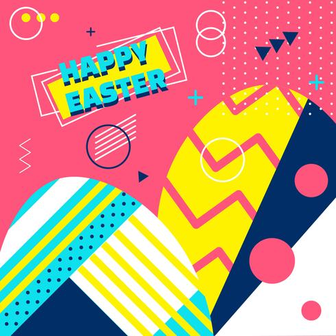 Glücklicher Ostern-Hintergrund-Vektor vektor