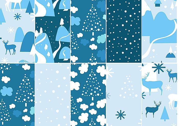 Chilly Winter Vektor Muster Pack