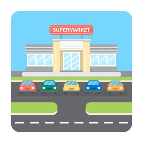 Supermarkt-Illustration vektor
