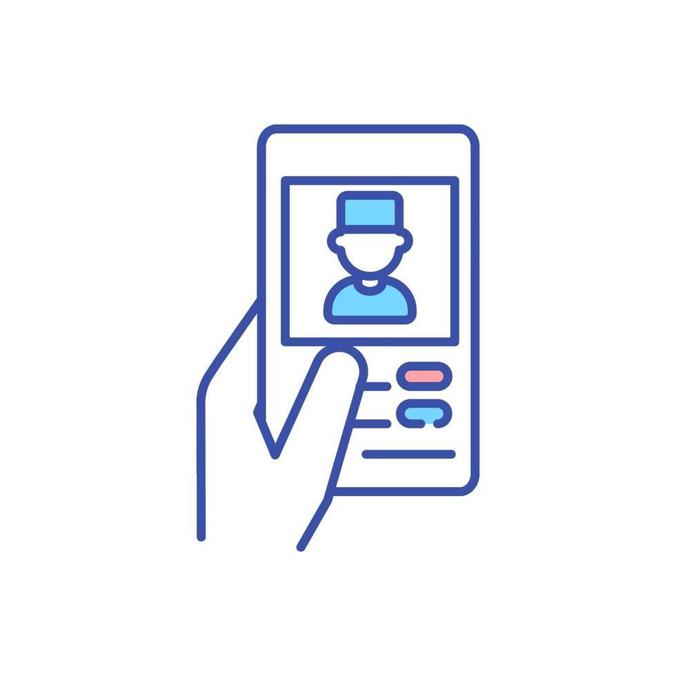 mobil medicin rgb färgikon vektor