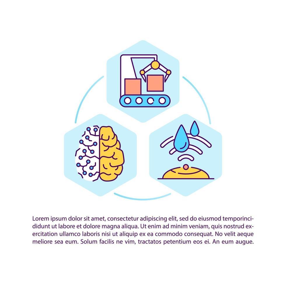 digital tillverkning koncept ikon med text vektor