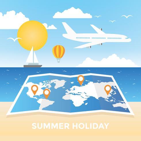 Vektor-Sommerferien-Reise-Illustration vektor