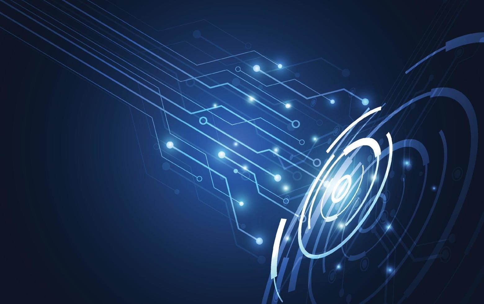 abstrakt teknik innovation kommunikation koncept digital blå design bakgrund. vektor illustration