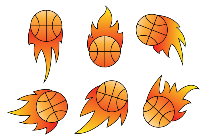 Basket på eld vektorer