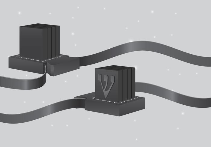 Judiska traditionella religiösa boxen vektor