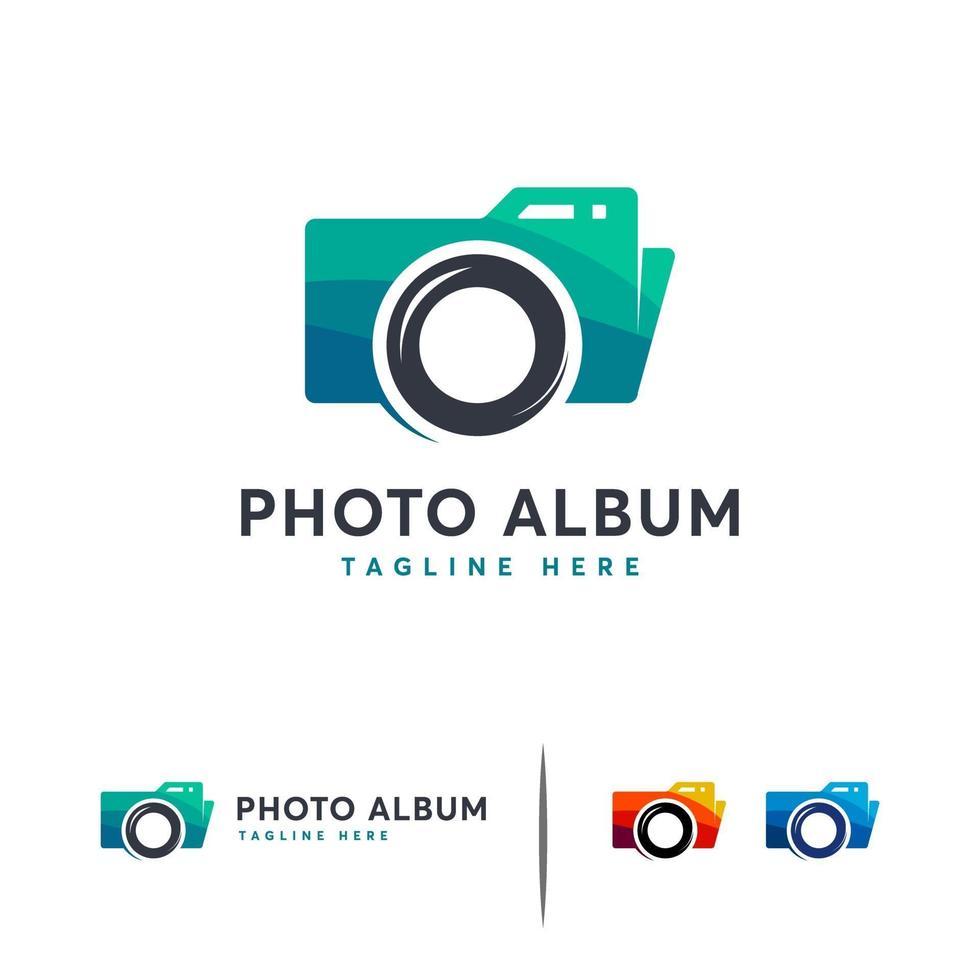 Fotoalbum Logo Designs Vorlage, Fotografie Logo Symbol vektor