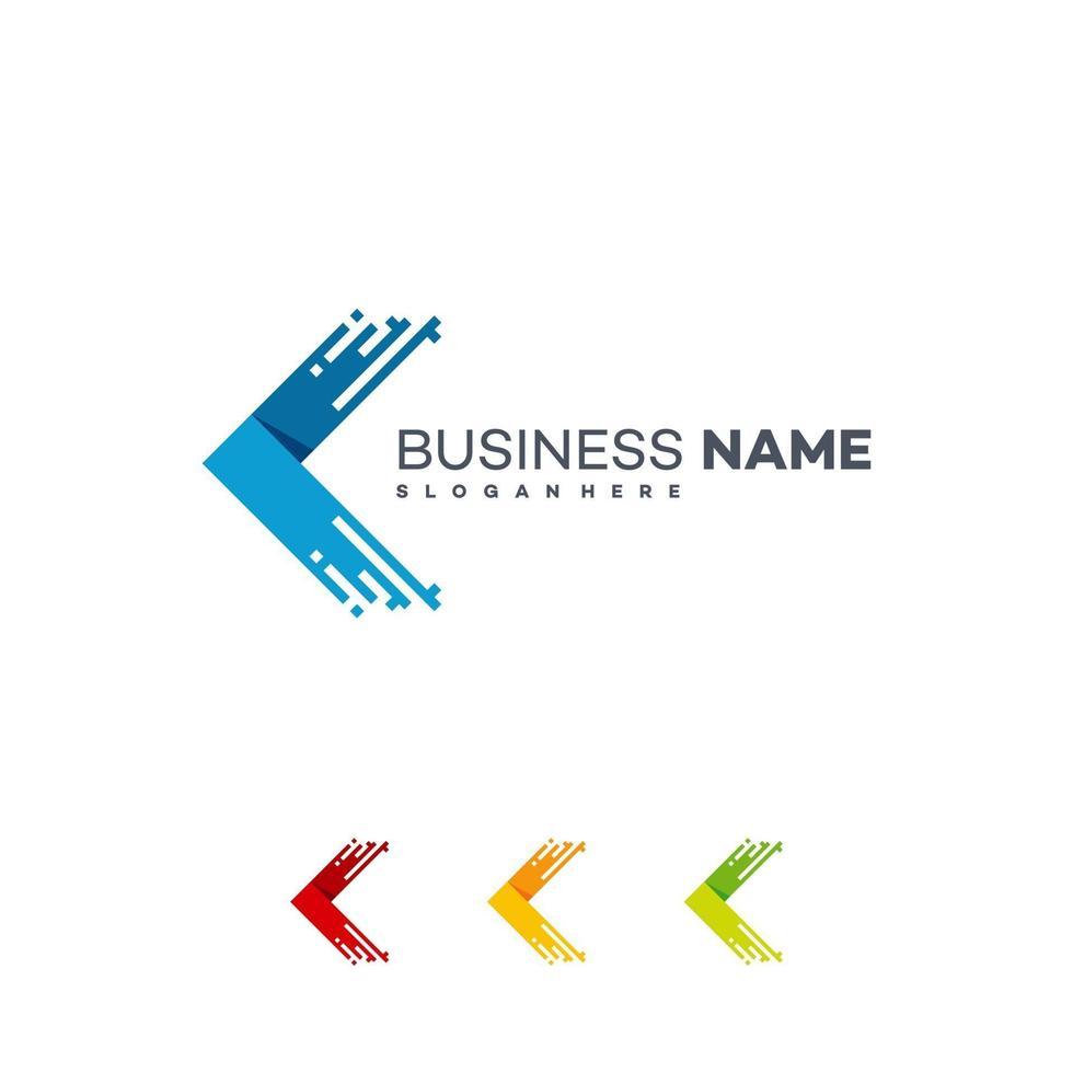 Express Logo Designs Vorlage, schnelle Pixel Pfeil Logo Vorlage vektor