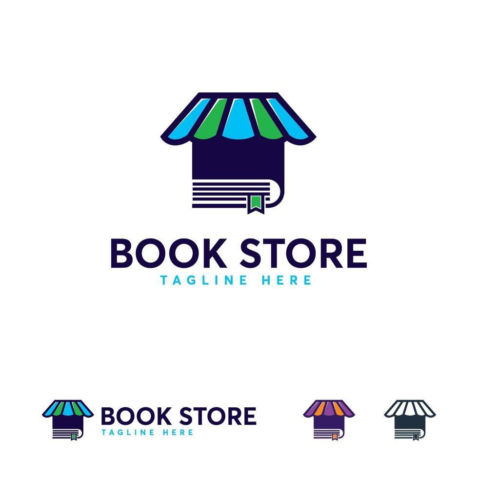 Buchhandlung Logo Designs Vektor, Buchhandlung Logo Vorlage vektor