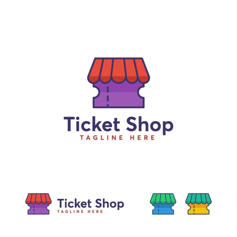 Ticket Shop Logo Designs Konzept Vektor, Ticket Online Logo Symbol vektor