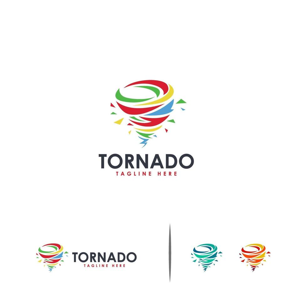 abstrakte Tornado-Logo-Designs vektor