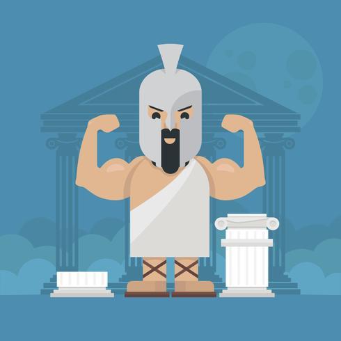Herkules-Mythologie-Charakter-Illustration vektor