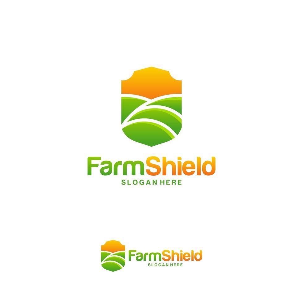 Farm Schild Logo Designs Konzept Vektor, Natur Schild Logo Vorlage Symbol, Ökologie schützen Logo vektor