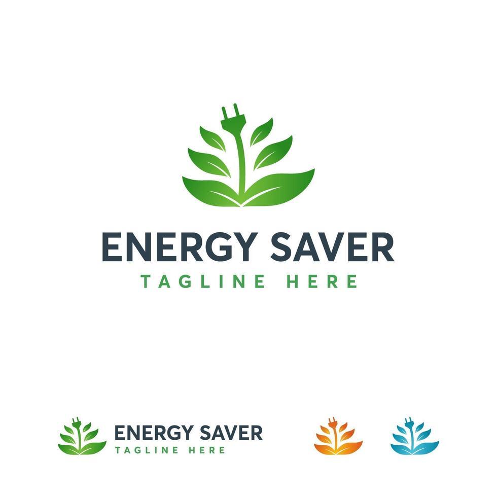 Energiesparlogo entwirft Konzeptvektor, Elektrizitätslogodesigns vektor