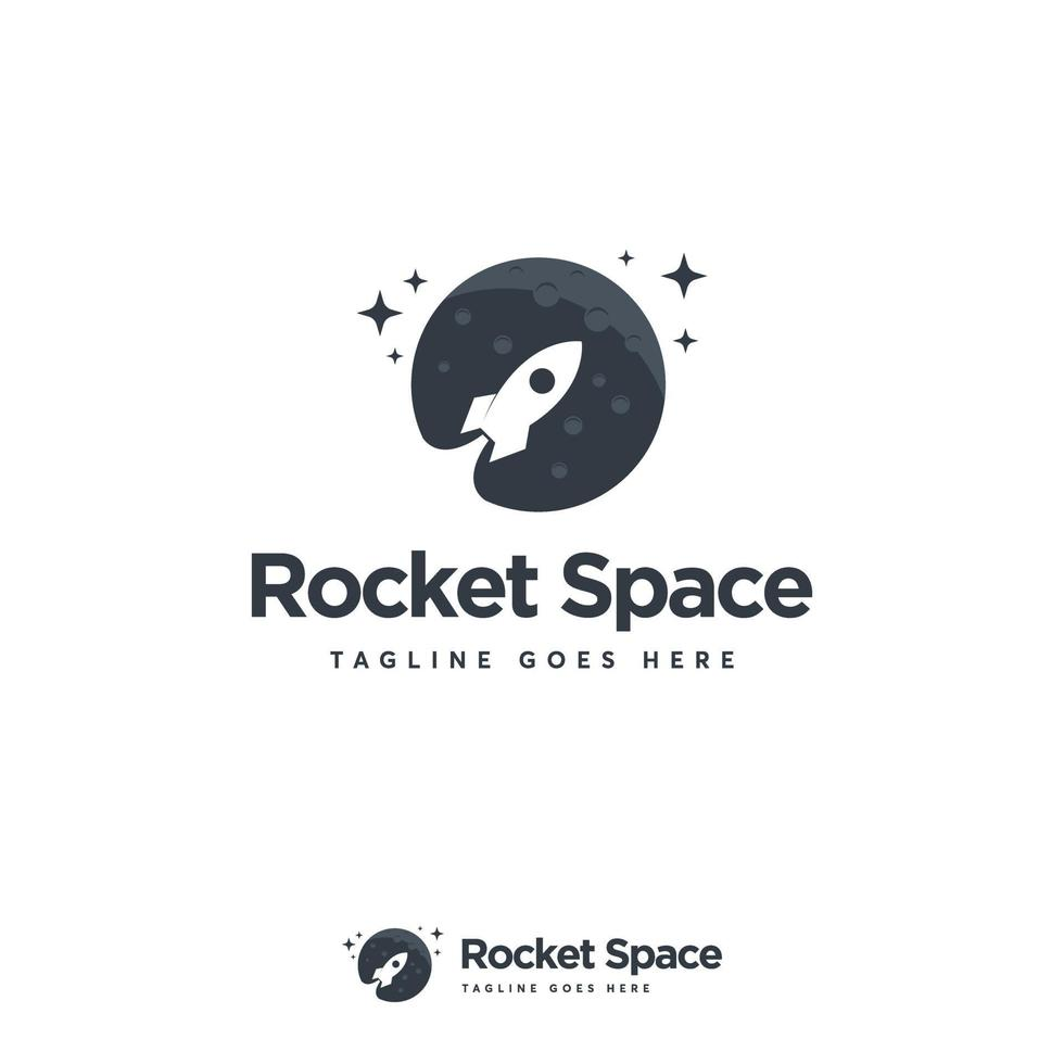 Raketenraum Logo entwirft Konzeptvektor, Planet Logo entwirft Symbol vektor