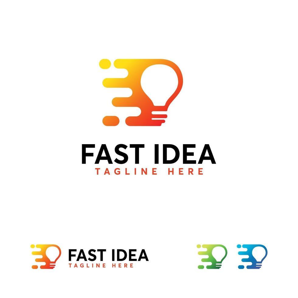 schnelle Idee Logo Designs Konzept Vektor, Tech Bulb Logo Designs Konzept Vektor